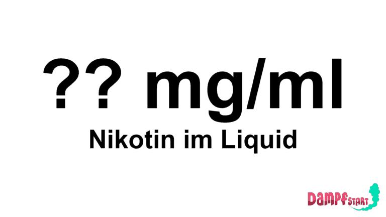 Nikotinstärke im Liquid - wir helfen dir die für dich passende Nikotinkonzentration zum Dampfen zu finden.